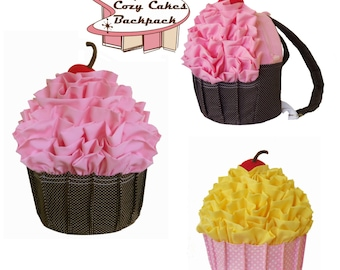 Cupcake Backpack & Pillow - PDF Sewing Pattern - cozy nest design