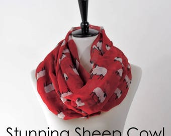 NEW Sheep Infinity Cowl - your choice of colors