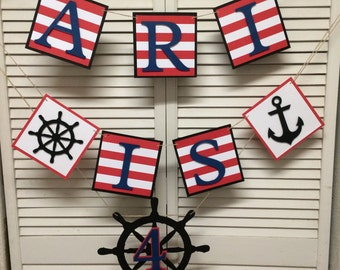Nautical/Pirate Birthday Banner