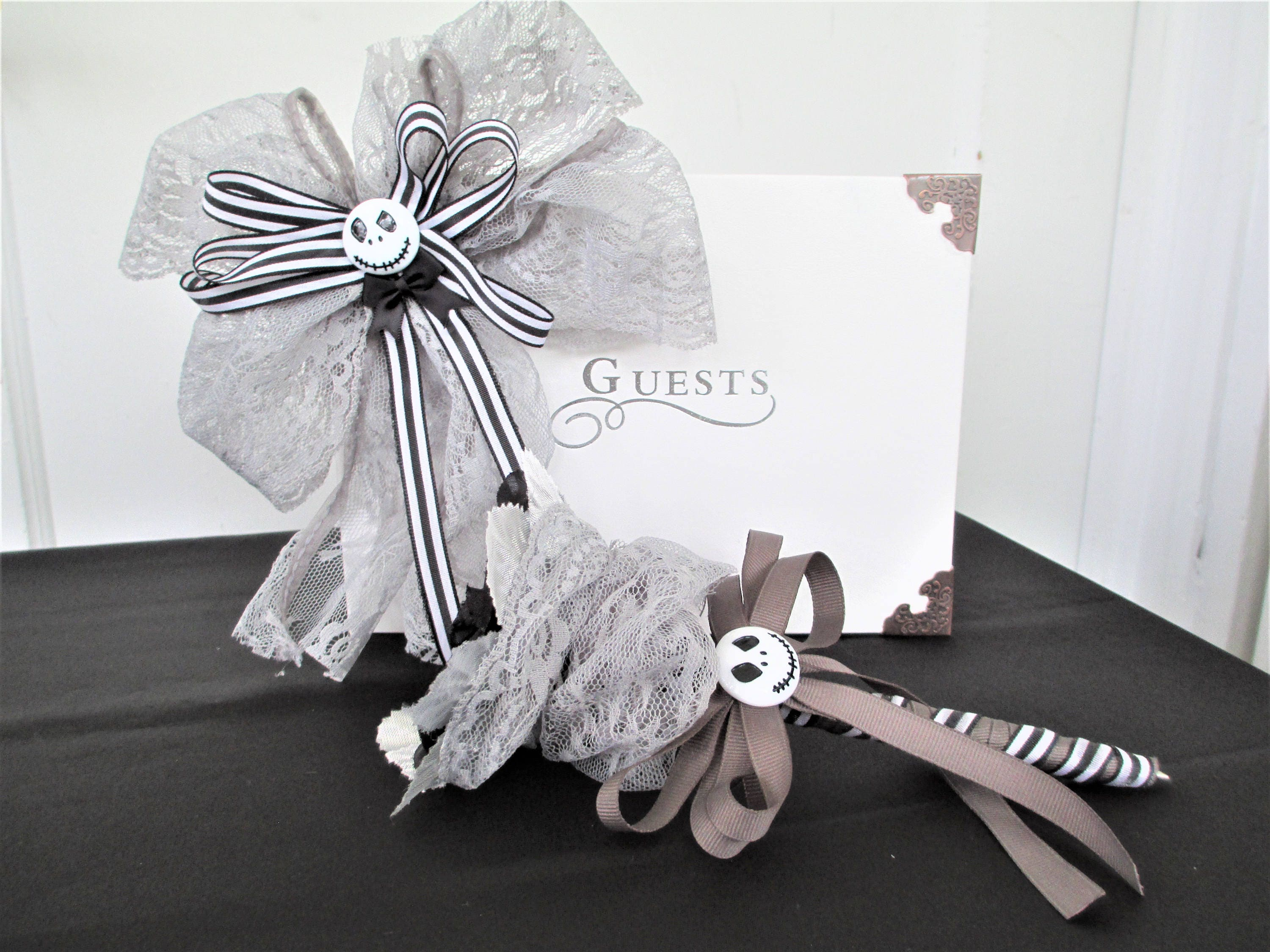 Nightmare Before Christmas Wedding Guest Book And Pen Set