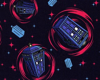 BBC Doctor Who Phone Booth - Springs Creative - 1 yard - More Available - BTY