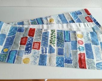 Swedish curtain valance in fabric Street design Josef Frank Almedahls