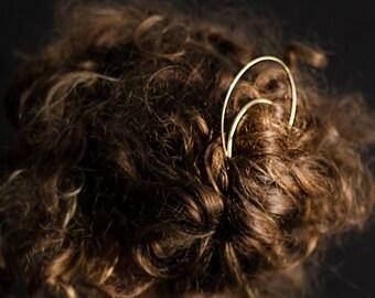 Large Moon Hair Pick
