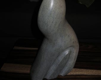 Vintage Soapstone Carving, Contemporary Soapstone Sculpture