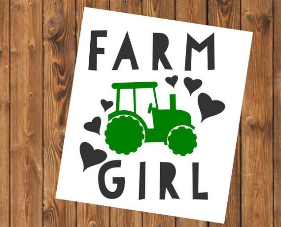 Free Shipping-Farmer Girl Yeti Rambler Tractor Decal Sticker, Yeti Farm Decal, Gardening/Country Decal Sticker, Laptop Sticker,Farm Life