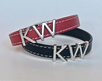 Keller Williams KW Black or Red One Thing Thin Leather Bracelet
