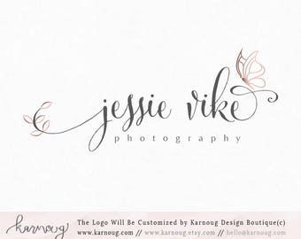 Pink Butterfly Logo Boutique Logo Photography Logo Premade Logo Watermark Logo Business Logo Branding Logo Custom Logo Logos and Watermarks