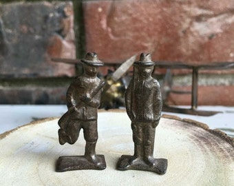 2 Lead Solider's Figurines from the 40's
