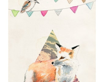 Who Gives a Fox | A5 digital prints | Alykat Creative animal series