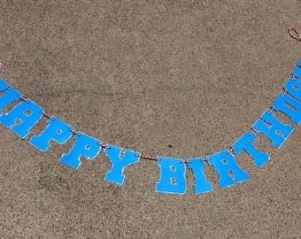 Boys Happy Birthday party banner Happy Birthday banner custom party banner kids banner custom party banner boys banner