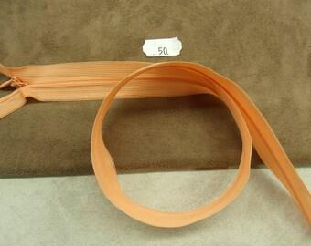 Invisible zipper - 50 cm - apricot