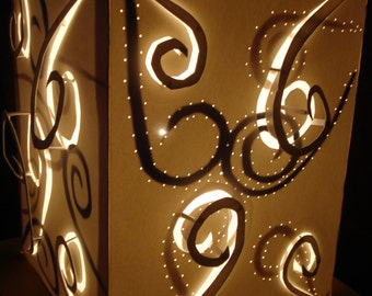 Paper Swirl Lamp