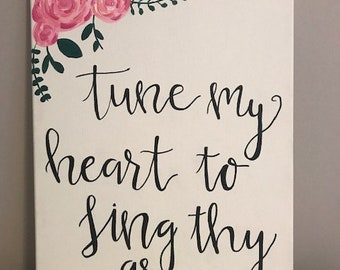 Tune My Heart Painting 12inx16in