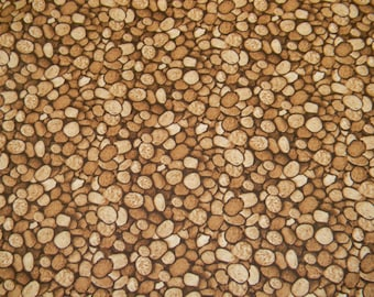 Natural Treasures Pebbles Cotton Fabric by Blank