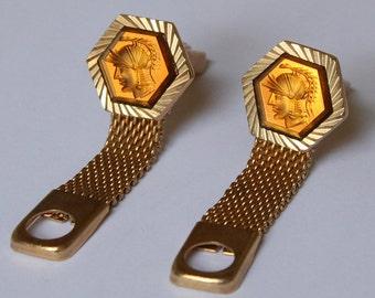 Vintage Roman Centurion Cufflinks - Wrap Around Cufflinks