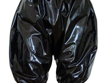 PVC Bloomers (Pants/Knickers). Shiny Black PVC. 2 Sizes (l/xl, 2xl/3xl). Heavy Plastic