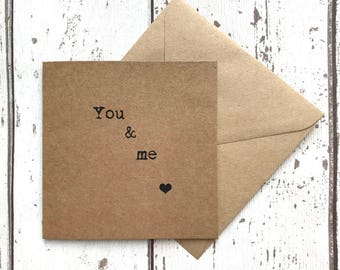 Romantic card, valentines card, quote greeting card, love card, quote card, husband card, wife card, anniversary card, boyfriend card