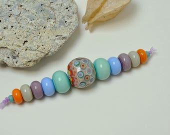 Mumbai & Co - Softie - Artisan lampwork beads by Loupiac