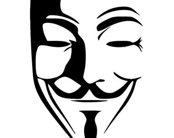 anonymous face vinyl window car vehicle decal sticker