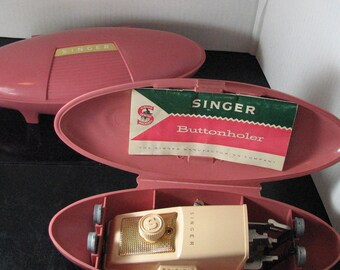 Singer buttonholer for slant machines