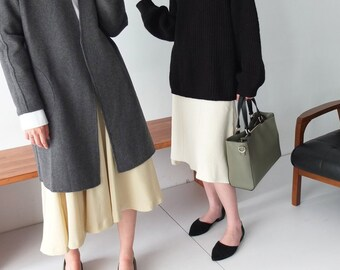 Merrick coat -reversible double-face cashmere wool handsewn coat
