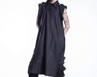 Shirts on sale New Black Tunic, Black Tunic Dress, Summer Tunic Dress, Black Blouse, Black Long Tunic, Over Sized Top, Maxi Tunic Dress, Sho