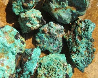 Green Turquoise Nuggets over 1/4 pound 007