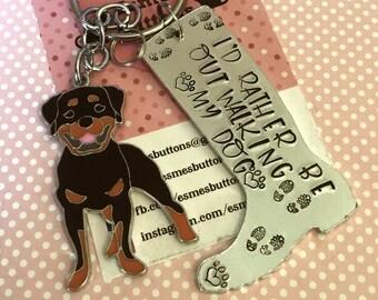 Dog walker keyring, wellie boot, boot keyring, dog owner gift, doggy gift, Hand Stamped Key Ring, Dog Owner, pet Owner, Pet Lover,