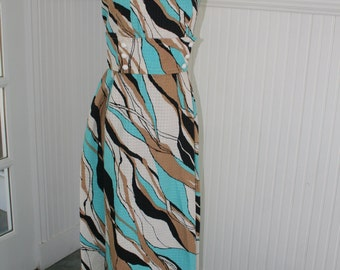 60s Cotton Sundress Maxi Dress