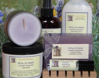 PETAL OF HONOR Sentimental Gifts For Mom, Sentimental Gifts For Her Friends, Sentimental Gifts For Grandma, Lavender Soap Lotion Gift Set