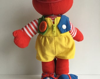 Vintage Playskool Dress Me Up ELMO Teaching Doll