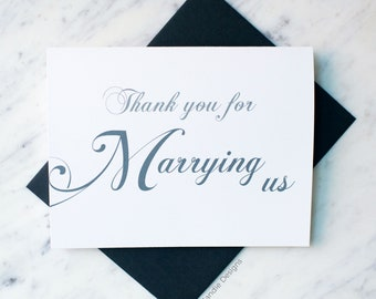 Thank You For Marrying Us Card | Card for Pastor | Card for Minister | Card for Officiant | Card for Priest | Card for Rabbi | Wedding Card