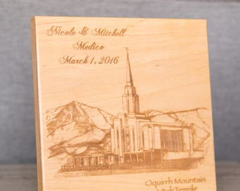 Wood LDS Temple Tile