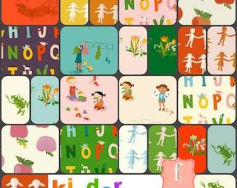 Heather Ross - Kinder - Fat Quarter Bundle - 23pc prints - Windham Fabrics