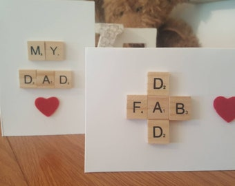 Fathers day card. Scrabble  card