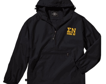 Sigma Nu Pack-N-Go Pullover (light gold embroidery)