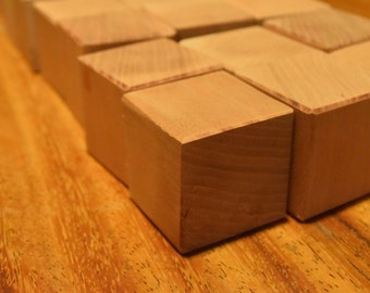 Slightly Smaller Cherry Blocks - 24 Wood Toys