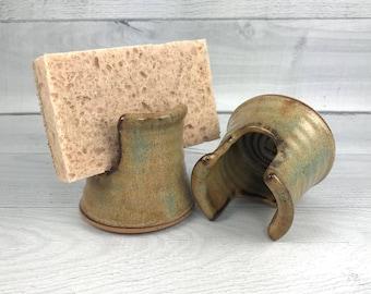 Sponge Holder - Kitchen Sponge Holder - Handmade Pottery Sponge Holder - Kitchen Sink Organizer