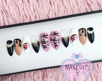 NAILED IT! Hand Painted False Nails - Kylie Jenner Lipkit
