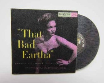 Record Album Eartha Kitt That Bad Eartha - dollhouse miniature 1:12 scale