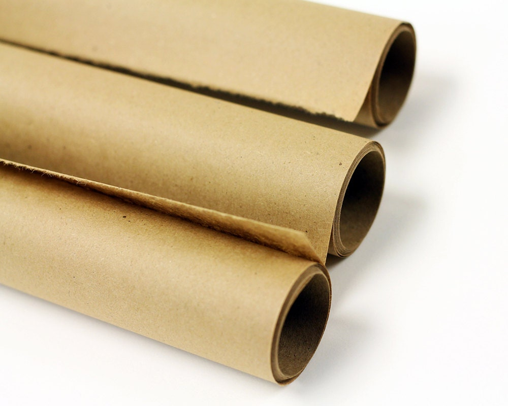 Kraft paper roll brown gift wrap stamping crafts zoom jeuxipadfo Image collections