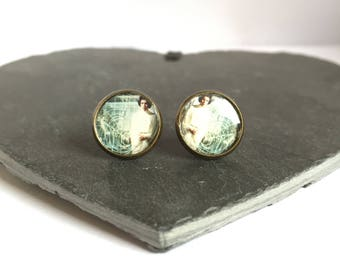 Face of the Reistance - Brass Stud Earrings