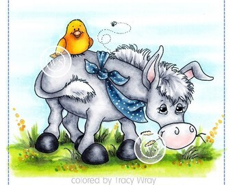 Whimsy Stamps --  Donkey and Friends -- NEW -- (#2274)