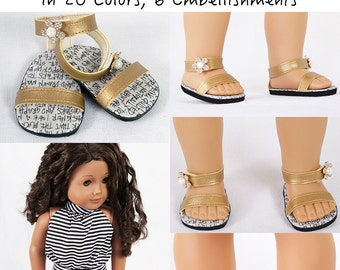 Custom Beach Sandals, Front Strap, Back T-Strap and Ankle Rhinestones, 20 Colors and 6 Embellishments!