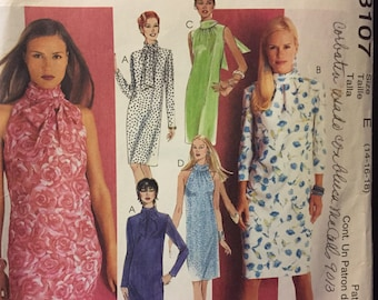 McCall's 3107 Misses' Pullover Dress Halter neckline  Sewing Pattern Size 14-18 Bust 36-40 inches UNCUT