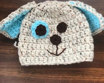 Blue puppy hat-baby size