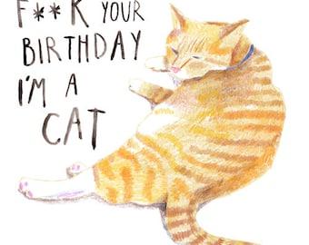 F***K Your Birthday, I'm A Cat