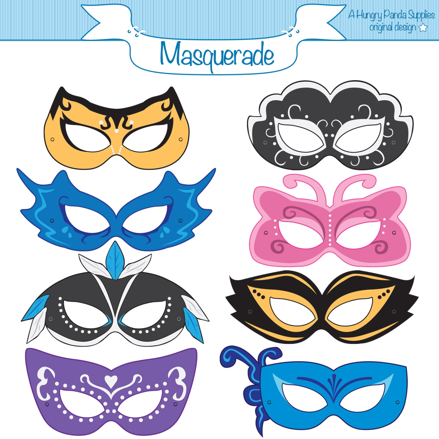 Masquerade printable masks masquerade mask printable zoom pronofoot35fo Gallery