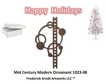 1023-8 Mid Century Modern Christmas Ornament