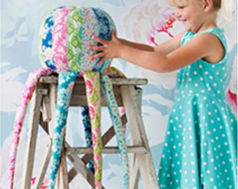 Tilda USA! The SUNKISS Collection by Tone Finnanger   Patchwork Octopus Kit   Sun Kiss   Makes 1 Octopus   Sunshine Sewing